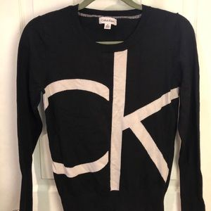 Black and white Calvin Klein sweater